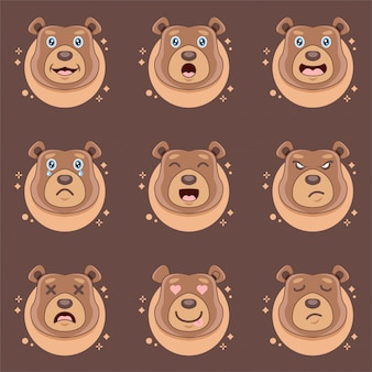 Expressions d'ours mignons