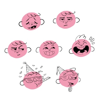 Expressions de visage jours de la semaine