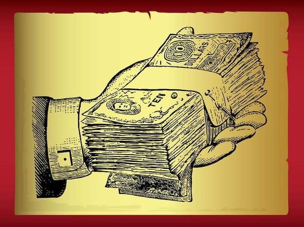 Extension liasse de main de cash