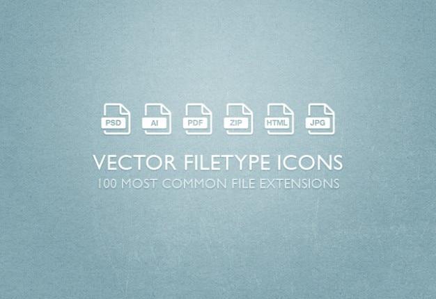 Extensions de fichiers icônes vectorielles définies