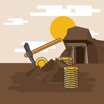 Extraction de pioche d'or