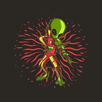 Extraterrestre jouant du violon