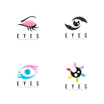 Eyes logo set vector