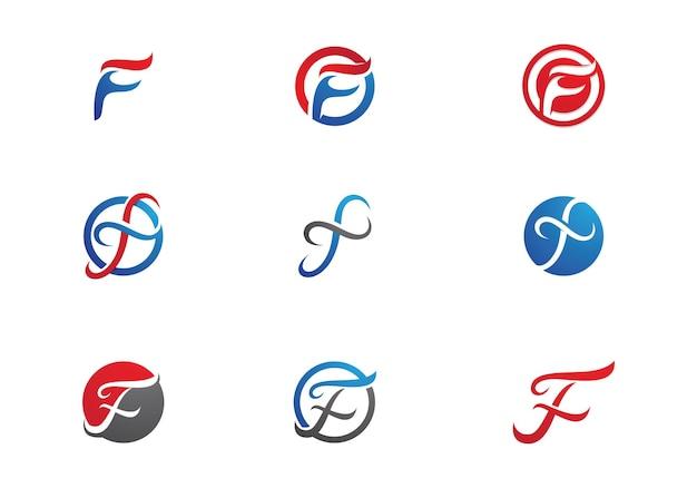 F lettre logo business template vecteur icône