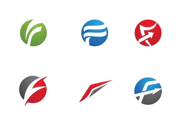 F Lettre Logo Business Template Vecteur Icône Vecteur Premium
