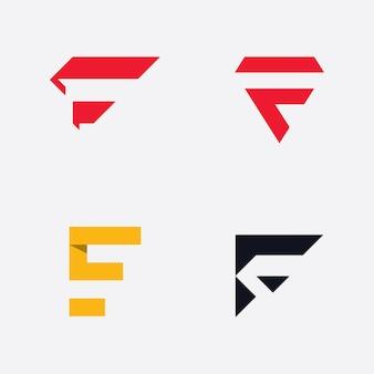 F lettre logo template vecteur initiales signe