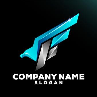 F logo eagle