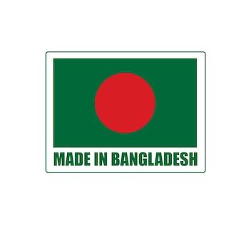 Fabriqué au bangladesh, conception d'un insigne vectoriel