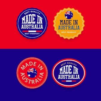 Fabriqué en australie modèle de jeu d'étiquettes.