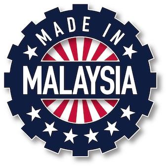 Fabriqué en timbre de couleur du drapeau de la malaisie. illustration vectorielle