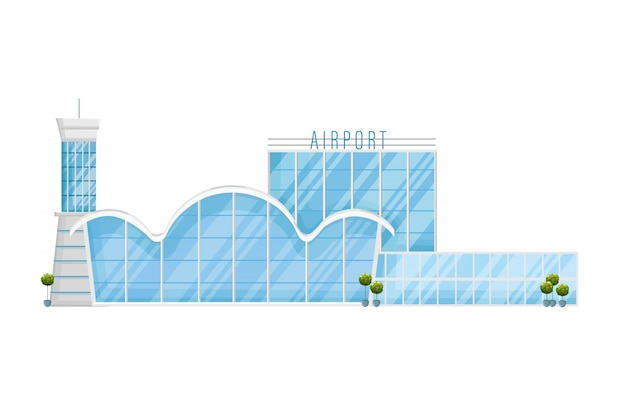 Façade de l'aéroport
