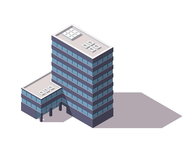 Façade de bâtiment d'architecture du centre d'affaires