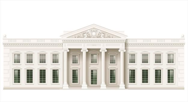 La façade classique d'un bâtiment public