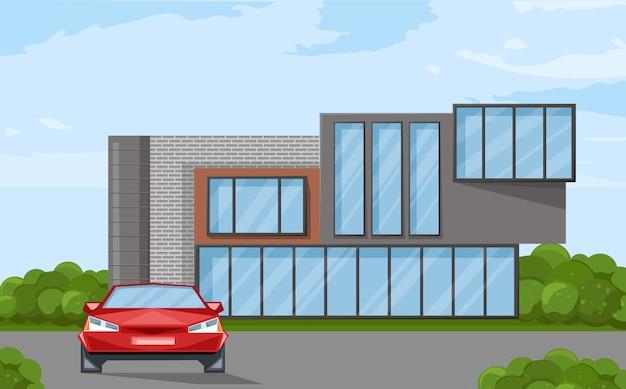 Façade de maison d'architecture