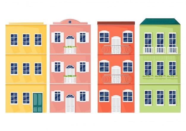 Façades colorées de l'italie