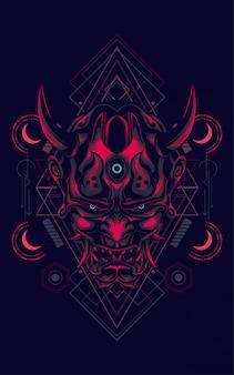 Face diable géométrie sacrée