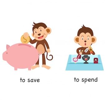 En face pour économiser et dépenser