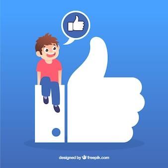 Facebook comme arrière-plan