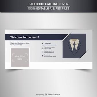 Facebook couverture de chronologie de l'entreprise
