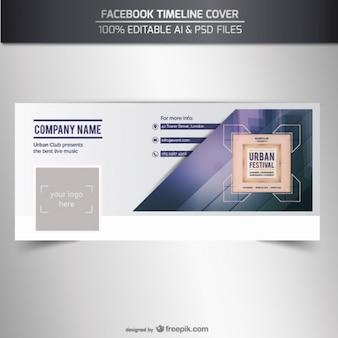 Facebook couverture de chronologie vecteur
