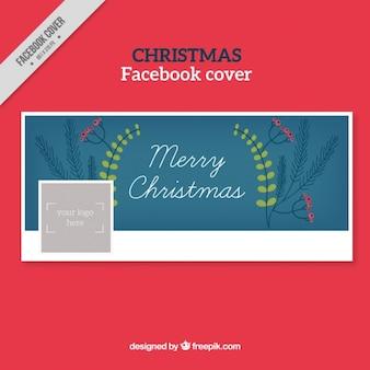 Facebook couverture avec détails floraux