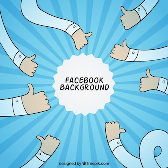Facebook fond avec bras dessinés à la main
