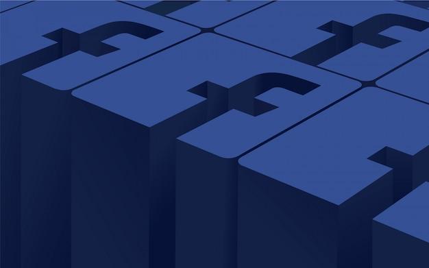 Facebook logo background
