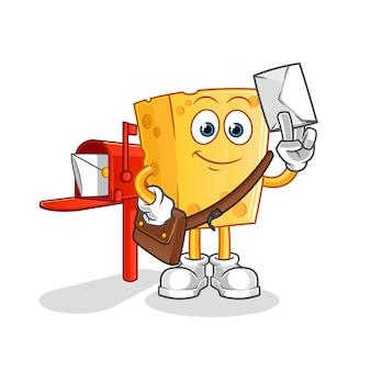 Facteur de fromage. personnage de dessin animé