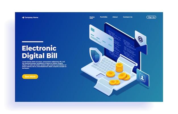 Facture électronique en ligne et historique des paiements, protection des données financières