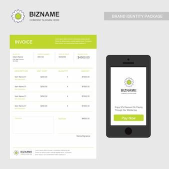 Facture d'entreprise avec logo et design créatif