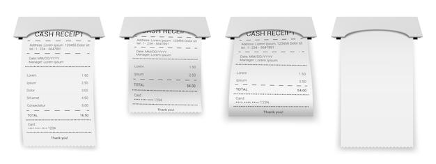 Facture imprimée sur papier ou transaction de facture bancaire
