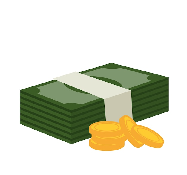 Factures wad et monnaie isolé