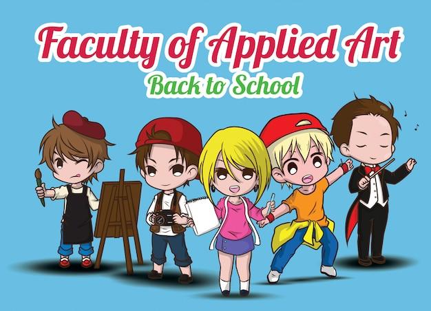 Faculté des arts appliqués., retour à l'école.