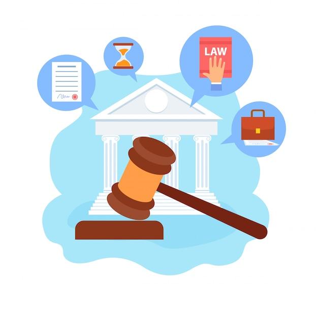 Faculté de droit, illustration de dessin animé de cours