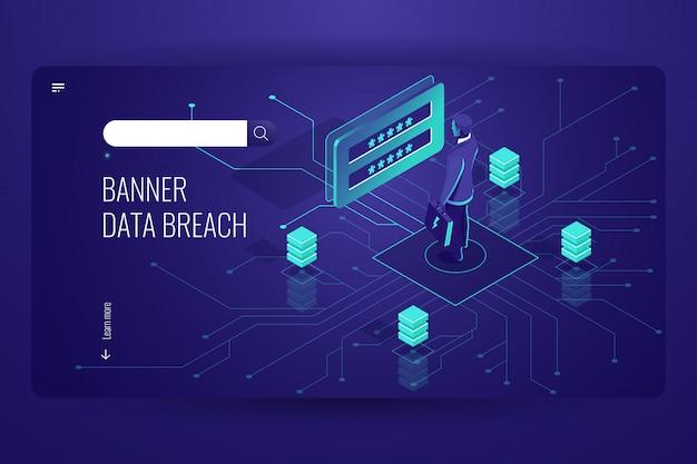 Faille de données, attaque de pirate, piratage de mot de passe, ingénierie numérique, ingénierie sociale