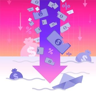 Faillite et régression financière