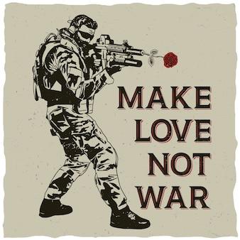 Faire l'amour pas la guerre illustration