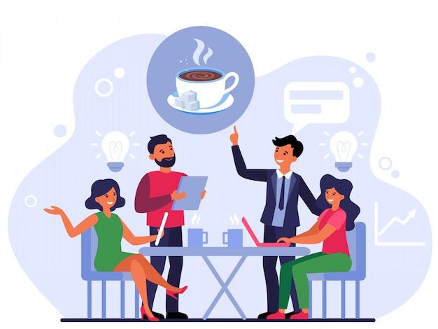 Faire de la commande dans un café
