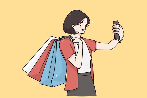 Faire un concept de communication en ligne selfie