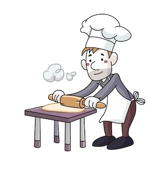 Faire cuire le pétrin dans la cuisine