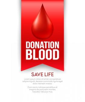 Faire un don de conception d'affiche de sang.