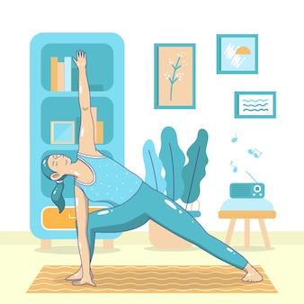 Faire des exercices d'échauffement à l'intérieur du sport