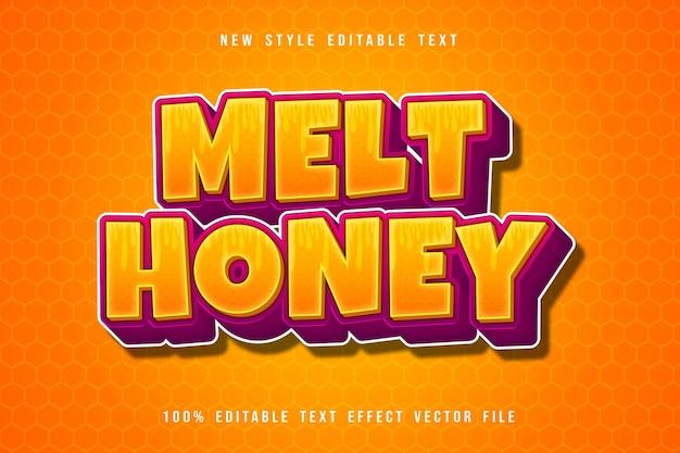 Faire fondre le style de dessin animé d'effet de texte modifiable de miel
