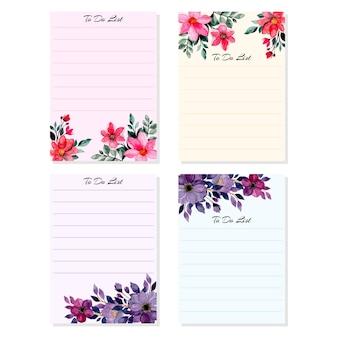 Faire la liste de collection avec aquarelle fleur