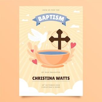 Faire-part baptême plat bio