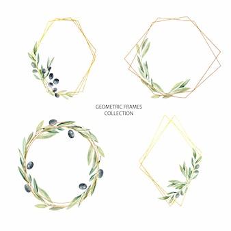 Faire-part de mariage de branches d'olivier pour des cartes de mariage