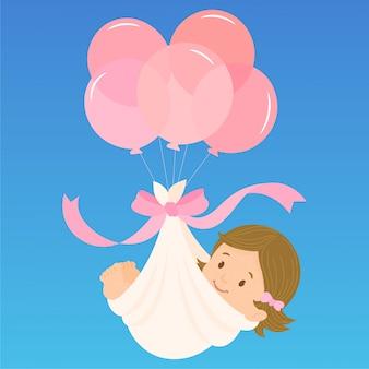 Faire-part de naissance d'une petite fille