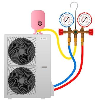 Faire le plein du climatiseur avec du fréon