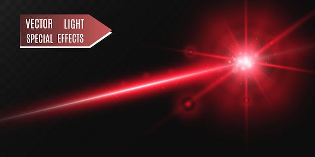 Faisceau laser abstrait. transparent isolé sur fond noir.