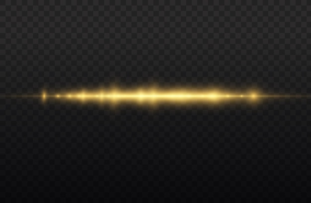 Faisceau laser horizontal